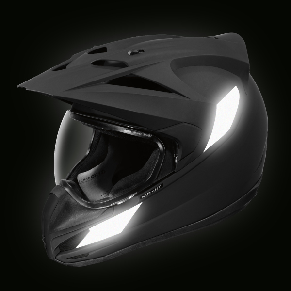Approved retro reflective stickers for ICON VARIANT™ helmets